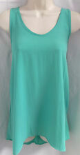 """""""SOPRANO"""" MINT GREEN LIGHTWEIGHT SEMI-SHEER CASUAL SHIRT TOP BLOUSE SIZE: S NWT"""
