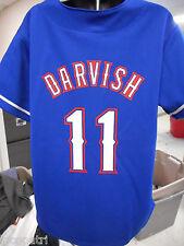 Majestic MLB Youth Texas Rangers Yu Darvish Baseball Jersey NWT M