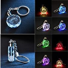 Colorful Crystal Pendant LED Keyring KPOP BTS Bangtan Boys Keychain Fans Gift