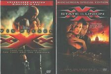 Xxx (Triple X) 1-2-3: State of the Union-Return Xander Cage- Vin Diesel- New Dvd