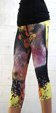 Capri Tattoo Leggings 3/4 Butterfly Floral Tattoo Print Jeggings Skinny Pants US