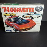Vintage '74 1974 Chevy Corvette  MPC model kit BIG 1/20 scale *READ DESCRIPTION*
