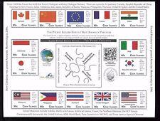 Cook Îles #1416 Excellent État, Nh Feuille de 15 - Pays Drapeaux & Emblèmes -29