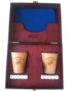 2er Würfel Set personalisierte Würfelbecher mit Gravur / handgefertigte Holzbox!