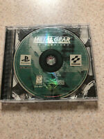 Metal Gear Solid VR Missions PS1 W/Original Case, No Manual-tested