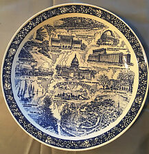 Vintage Wisconsin State Collector Plate China Ceramic Home Decor Souvenir