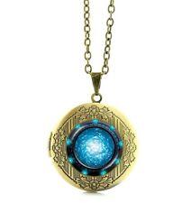 Stargate SG1 Portal Logo Glass Domed Pendant Locket Necklace