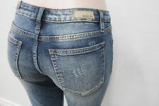 NWT Miss Me Vintage Blue Splitting Image Ankle Skinny Jeans M1001FA112 Sz 29x27