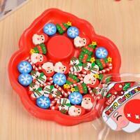 30Pcs/set Eraser Cute Christmas Series Eraser Creative Rubber Student Eras Fast