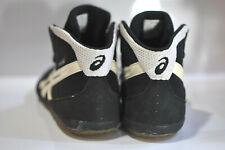 Asics Mens black white matflex wrestling shoes size 10