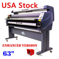 """USA 110v 63"""" Luxury Full Auto Heat Assisted Wide Format Cold Laminator Gift"""