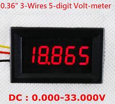 4-1/2 (4.5) Digit Volt meter Panel Counter Red LED DC 0 to 33V 4-Wires Display