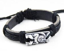 cool man boy Tiki totem Leather Bracelet S-102