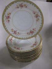 "Occupied Japan MIOJ Kingswood China ARAGON pattern floral 10"" dinner plate 1950s"