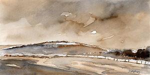 Darfield Winter Fields POSTCARD Steve Greaves Watercolour Art Card Landscape