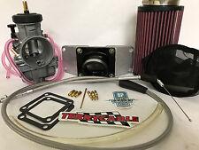 Banshee BP Racing 35mm 35 Mil Keihin PJ 2 Into 1 CV Carb Kit Complete Manifold