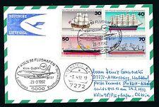 78461) LH FF Köln - Dublin Irland 29.3.92, Karte Satz Jugend Schiffe ship