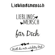"Clear Stamps ""Lieblingsmensch"", Stempel transparent"