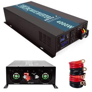 4000 Watt Pure Sine Wave Inverter 24V DC to AC Power Converter Car Truck Battery
