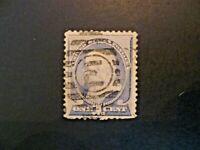 USA 1887  $.01 Franklin #212 Used Letter E in Shield Cancel - See Description