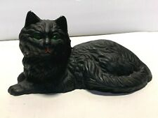 Sweet Vintage Cast Iron Cat Doorstop Lounging Kitty Cat Cast Iron Metalware