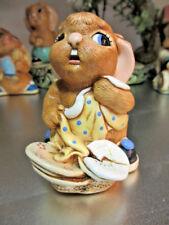 "Pendelfin Rabbit Made In England ""Butterfingers"" Chalkware Kh"