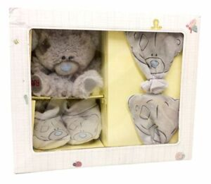 Me To You Tiny Tatty Teddy Mittens, Booties & Plush Set baby gift set 0-12month