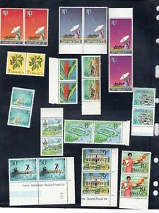 Jamaica stamps 1972 complete year in pairs MNH OG