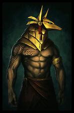 Ancient Egypt - Anubis - Egyptian Art - Handmade Oil Painting On Canvas
