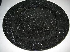 "Signature Stoneware TABLEROCK BLACK Salad Plates 2-pc lot 7 7/8"" D"