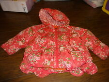 BOUTIQUE OILILY COAT PINK FLORAL 92 2-3 2T 3T WARM!!