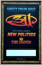 311 | NEW POLITICS Unity Tour 2017 Ltd Ed RARE New Poster +FREE Alt Rock Poster!
