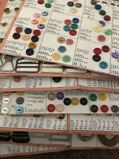 Vintage 80's Sewing Buttons Over 2,200 Plus Several Buckles On Cataloge Cards