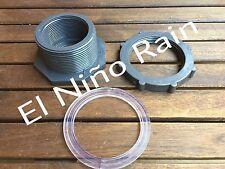"2"" PVC Bulkhead Fitting Adapter Rain Barrels, Water tanks, Ponds and Aquariums."
