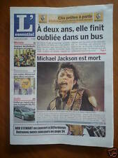 JOURNAL DU DECES DE : MICHAEL JACKSON LE 26 juin 2009.