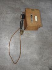 antique PHONE wall wooden TELEPHONE ART DECO RETRO Crank wood vintage century