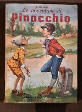 Le avventure Pinocchio Collodi Libro 1971 Editrice Piccoli Milano Vintage Disney