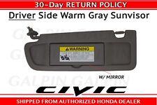 Genuine OEM Honda Civic Driver's Side NH686L Sunvisor 2009-2011  83280-SNA-A01ZE