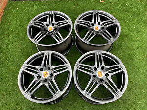 "Genuine Porsche Carrera 997 911 Turbo 19"" Alloy wheels 5x130 C2S C4S Widebody £"