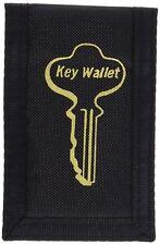 """Hy-Ko KC168 Stick-On Key Wallet, 4"""" x 2-5/8"""", Black"""