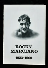 Vintage 1969 Rocky Marciano Funeral Memorial Service Tribute by Charlie Petti