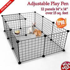 Adjustable Small Pet PlayPen Animal Exercise Portable Fence Indoor Outdoor Metal