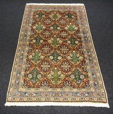 Orient Teppich Rotrost 156 x 100 cm Perserteppich Feldermuster Handgeknüpft Rug