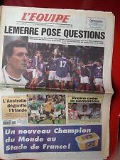 journal l'équipe 11/10/99 CYCLISME CHAMPIONNAT DU MONDE 1999 FREIRE LEMERRE