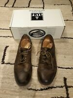 Men's Frye James Wingtip Fatigue 84625 Brown Size 12M USED