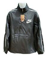 NIKE Sportswear NSW MENS  Lightweight Packable Active Rain Jacket Smock Black M