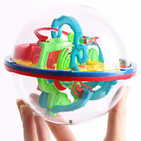 3D Puzzle Ball Game Toy Intellect Magic Labyrinth Educational Kids Fun Gift Char