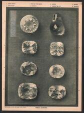 Famous Diamonds  Grand Mogul - Star Of The South - Matan 1917 Photogravure Print