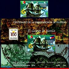 2079-80 MEXICO 1998 PHILIPPINES INDEPENDENCE,CENT,SHIPS,HISTORY,MI# 2697-B45,MNH