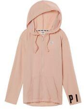 Victorias Secret PINK Hoodie sweatshirt Slouchy Full Zip Ballet Pink Nude M NWT